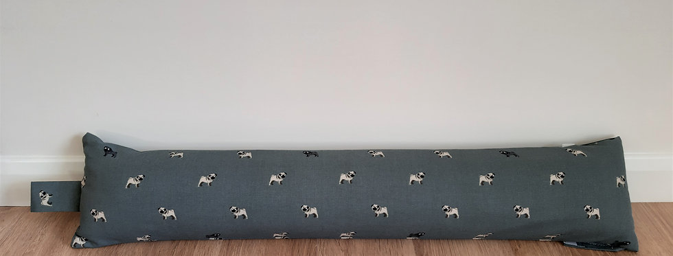 Pug Draught Excluder, Handmade in Sophie Allport Fabric