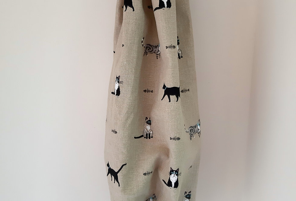 Purrfect Carrier Bag Holder, Handmade in Sophie Allport Fabric