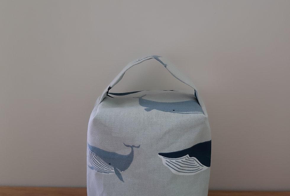 Whale Doorstop, Handmade in Sophie Allport Fabric