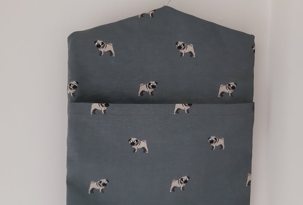 Pug Peg Bag, Handmade in Sophie Allport Fabric