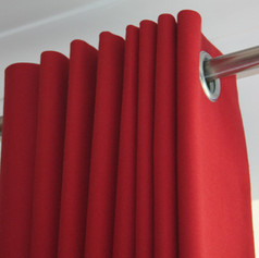 Red Eyelet Curtains