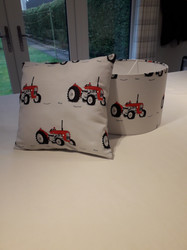 Tractor lampshade and cushion