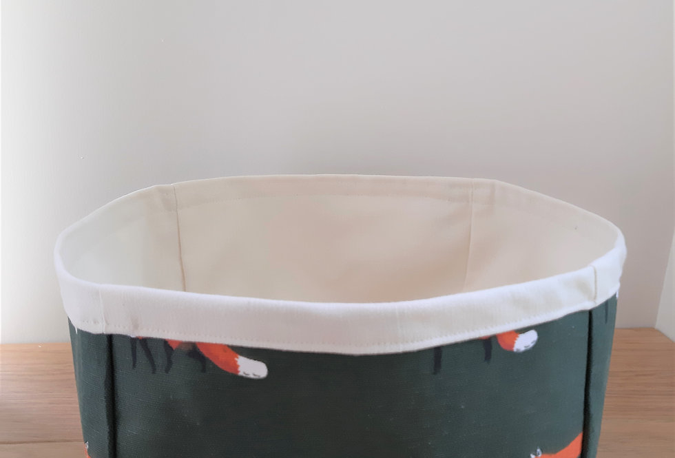 Fox Storage Box, Handmade in Sophie Allport Fabric