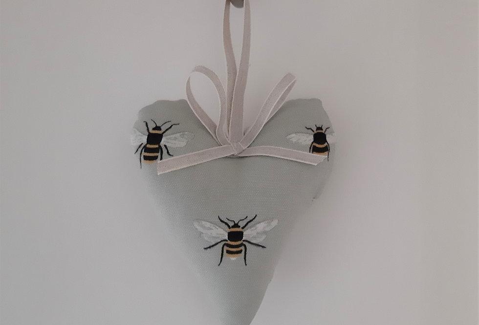 Bees Hanging Heart, Handmade in Sophie Allport Fabric