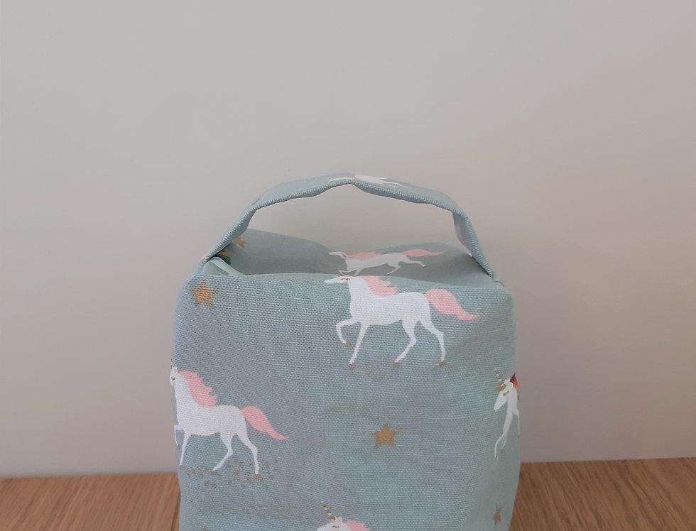 Unicorn Doorstop, Handmade in Sophie Allport Fabric