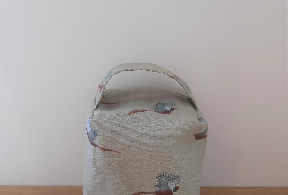 Pheasant Doorstop, Handmade in Sophie Allport Fabric