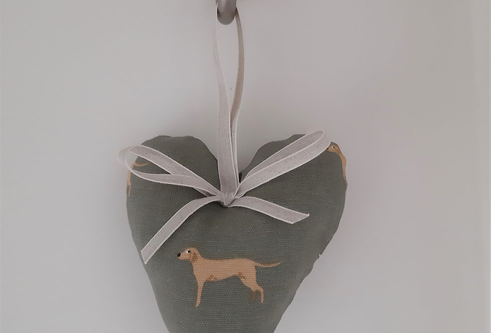 Fab Labs Hanging Heart, Handmade in Sophie Allport Fabric