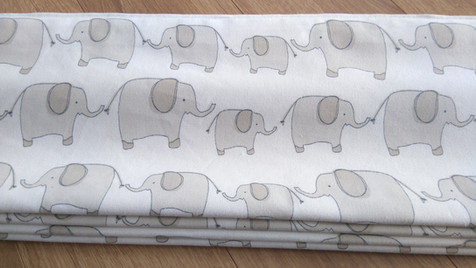 Blackout lined elephant roman blind for nursery