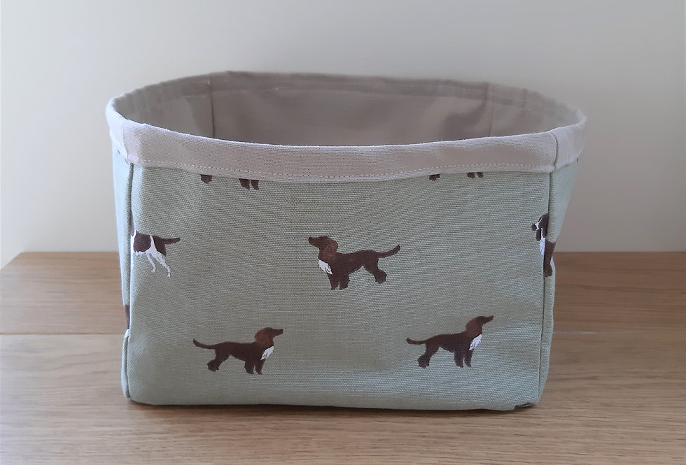 Spaniel (Dog) Storage Box, Handmade in Sophie Allport Fabric