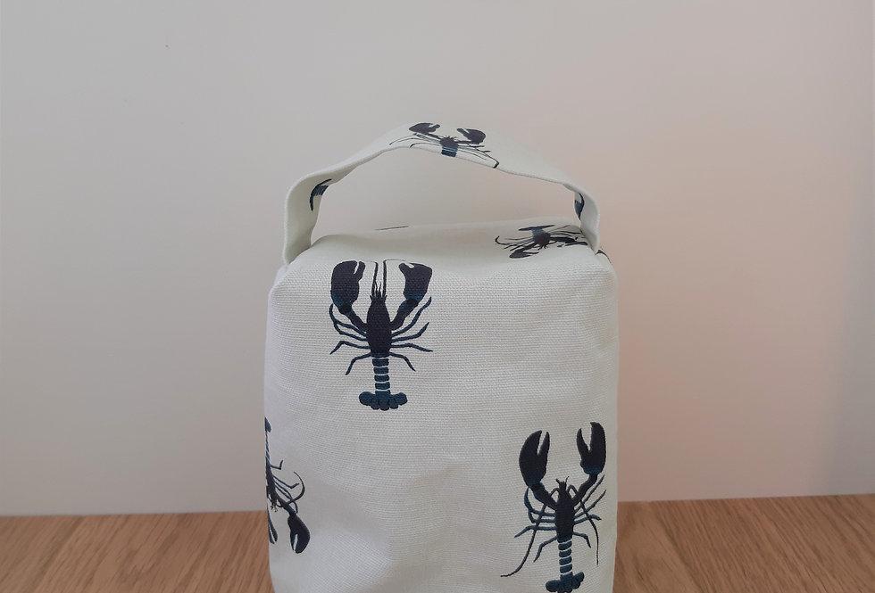 Lobster Doorstop, Handmade in Sophie Allport Fabric