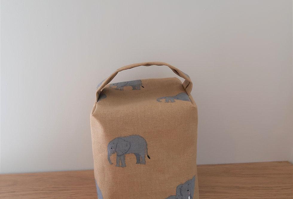 Elephant Doorstop, Handmade in Sophie Allport Fabric