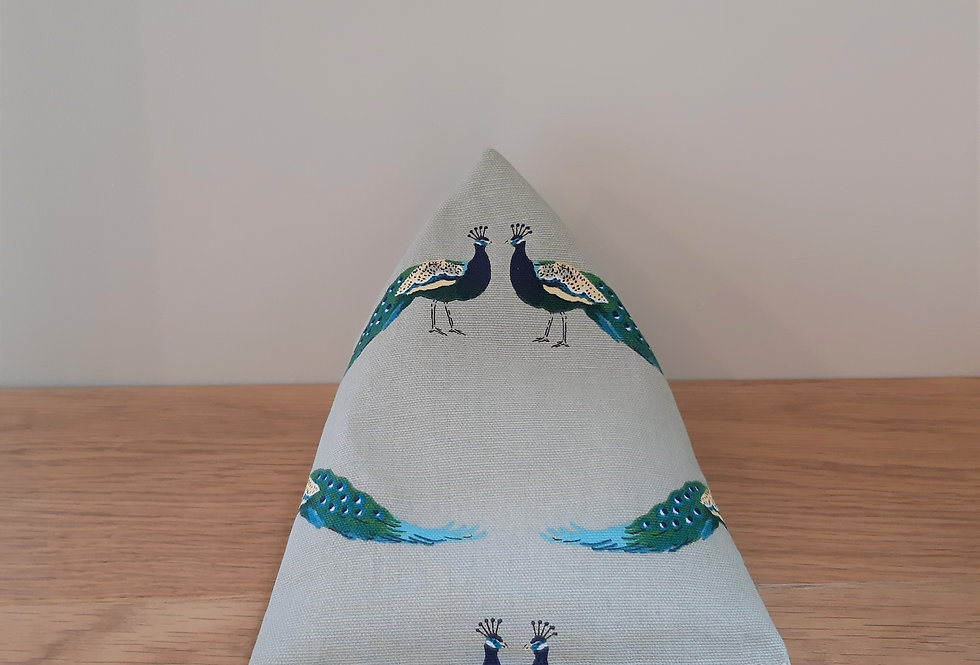 Peacock Mobile Phone Bean Bag Cushion