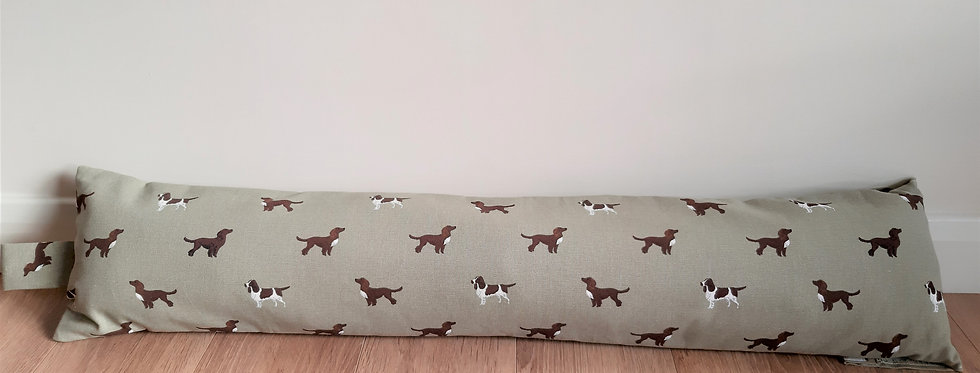 Spaniel Draught Excluder, Handmade in Sophie Allport Fabric