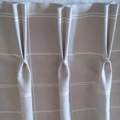 Cream Pencil Pleat Curtains