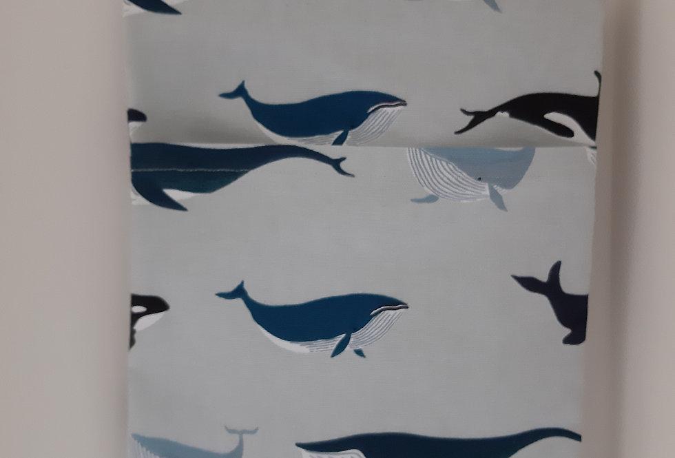 Whale Peg Bag, Handmade in Sophie Allport Fabric
