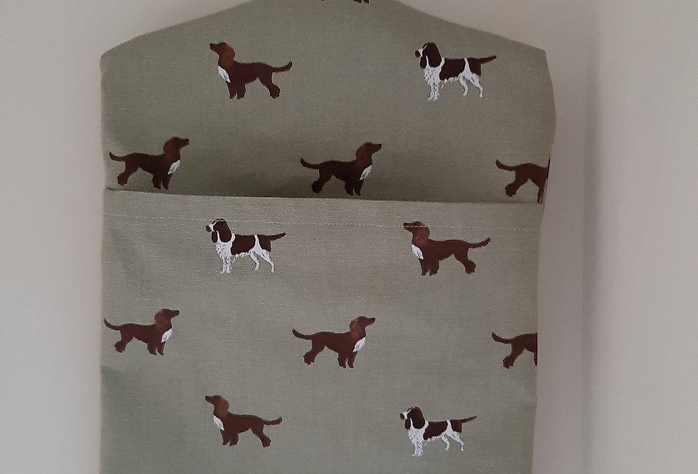 Spaniel Peg Bag, Handmade in Sophie Allport Fabric