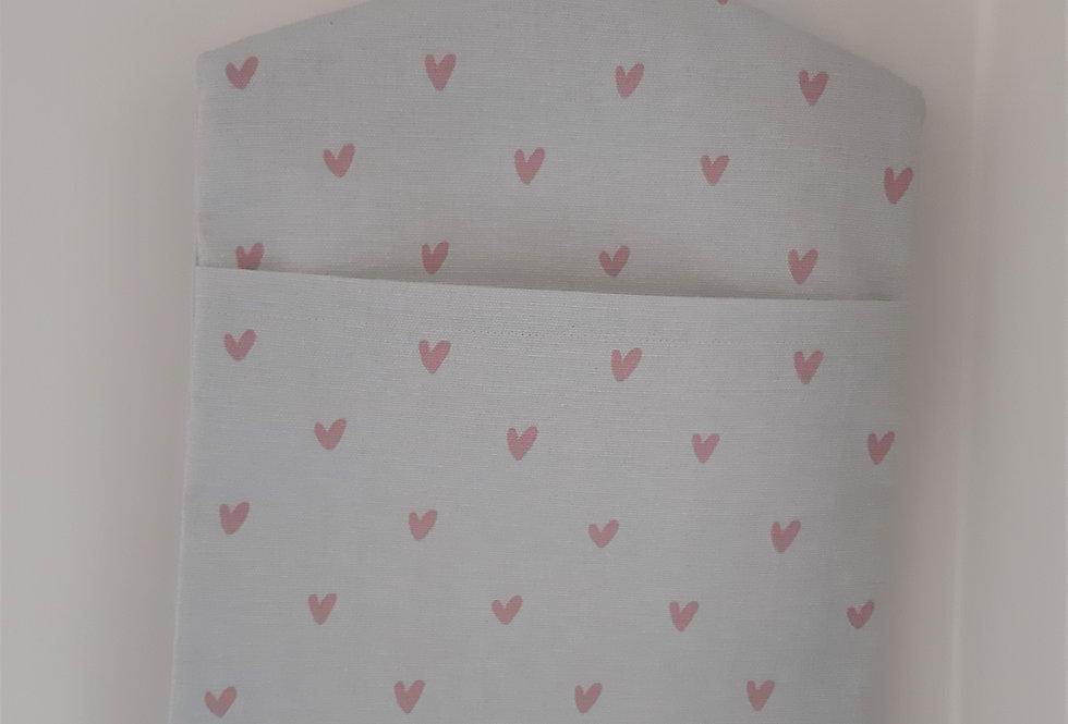 Hearts Peg Bag, Handmade in Sophie Allport Fabric