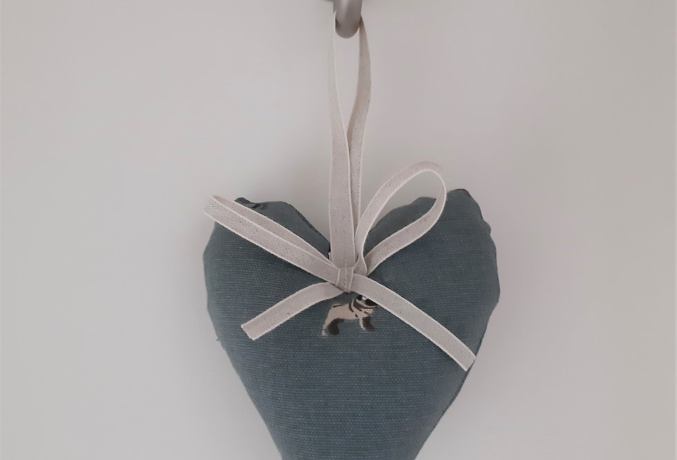 Pug Hanging Heart, Handmade in Sophie Allport Fabric