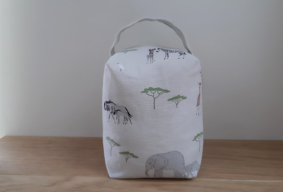 Safari Doorstop, Handmade in Sophie Allport Fabric
