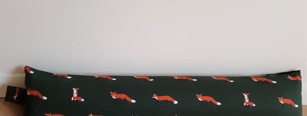 Fox Draught Excluder, Handmade in Sophie Allport Fabric