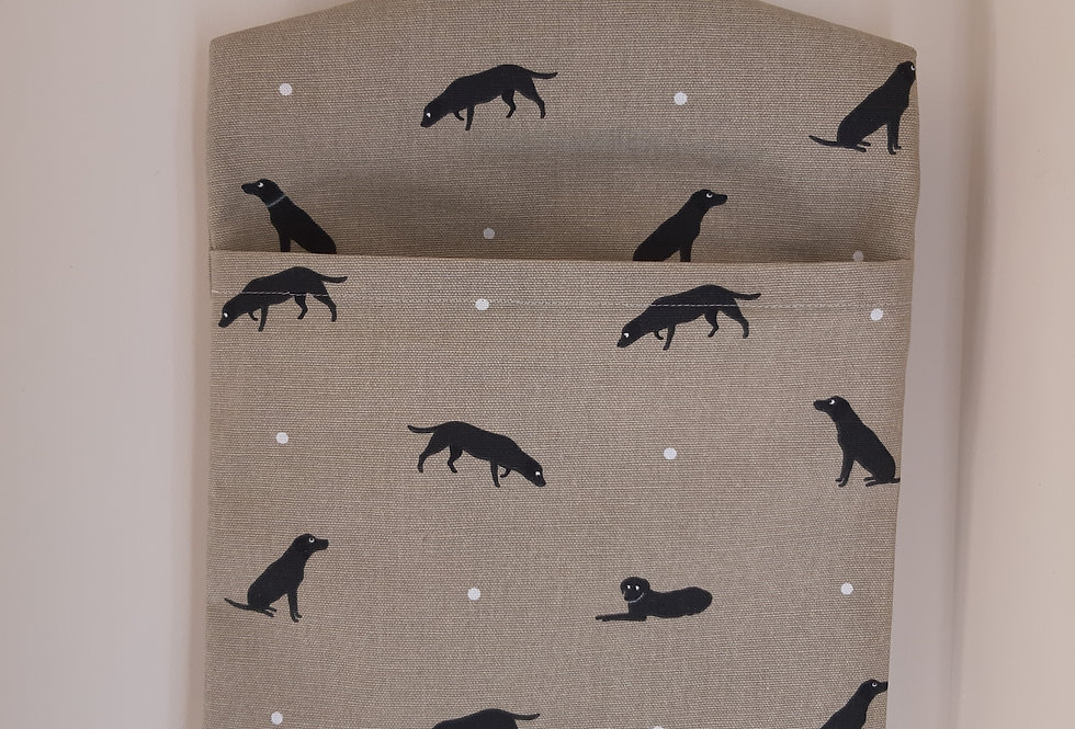 Labrador Peg Bag, Handmade in Sophie Allport Fabric