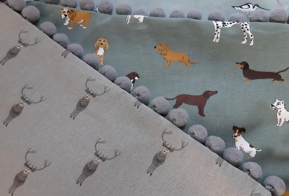 "ANY 16""x16"" Sophie Allport Fabric Pom Pom Cushion Cover"
