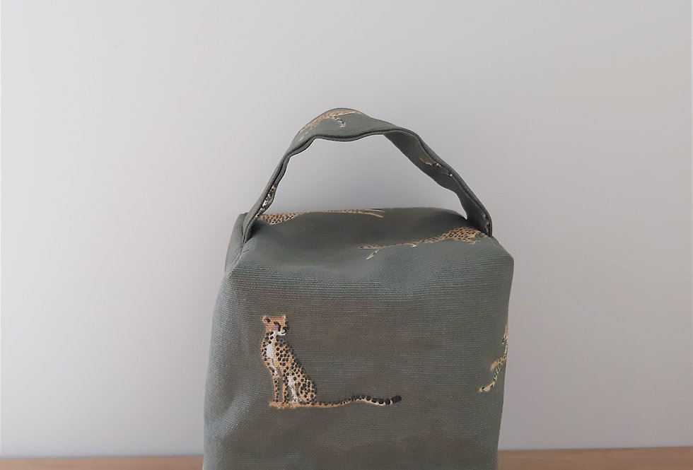 Cheetah Doorstop, Handmade in Sophie Allport Fabric
