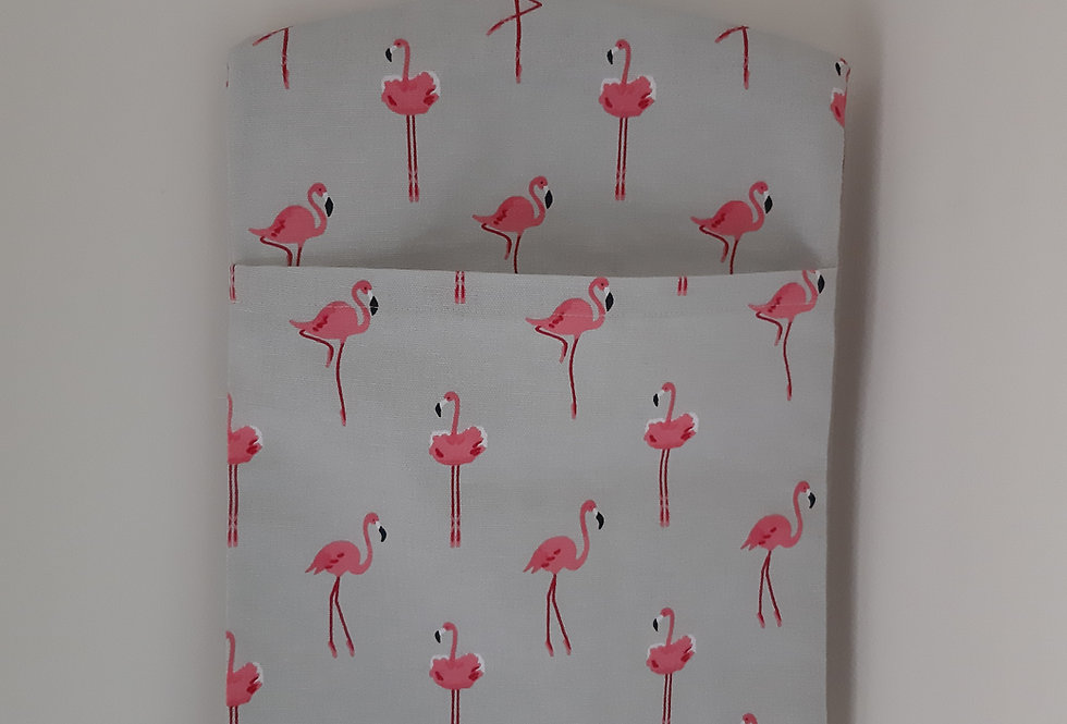 Flamingo Peg Bag, Handmade in Sophie Allport Fabric