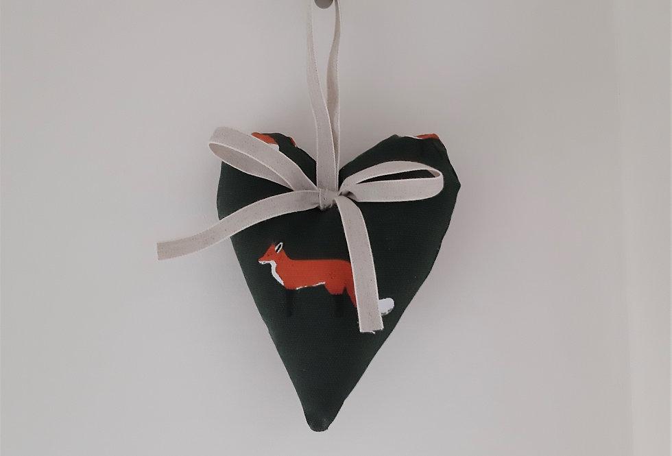 Fox Hanging Heart, Handmade in Sophie Allport Fabric