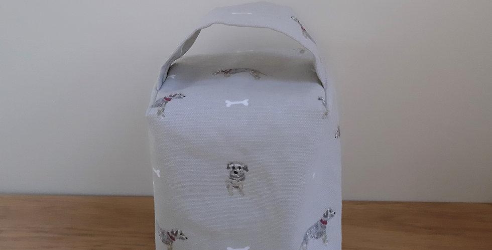 Terrier Dog Doorstop, Handmade in Sophie Allport Fabric