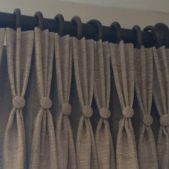Beige Triple Pleat Curtains