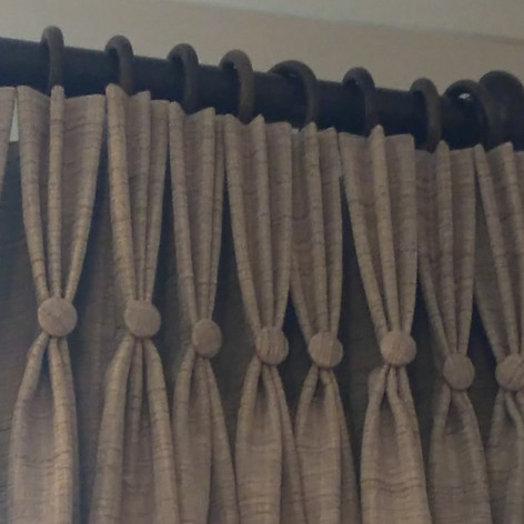 Beige Triple Pleat Curtains