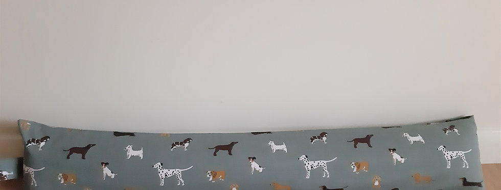 Fetch (Dogs) Draught Excluder, Handmade in Sophie Allport Fabric