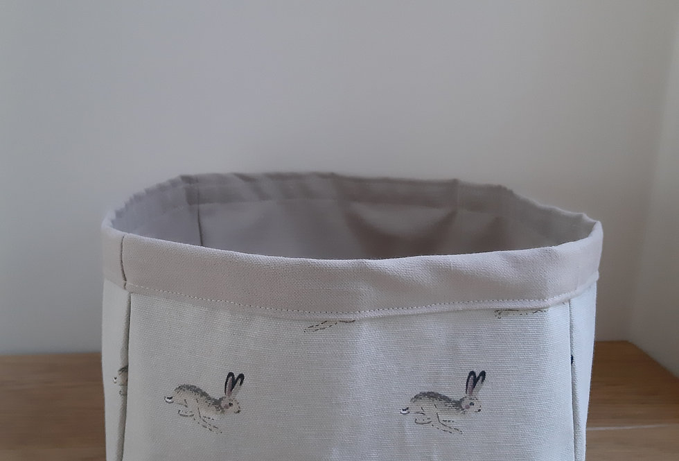 Hare Storage Box, Handmade in Sophie Allport Fabric