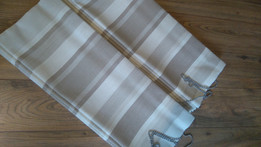Roman blinds in striped fabric