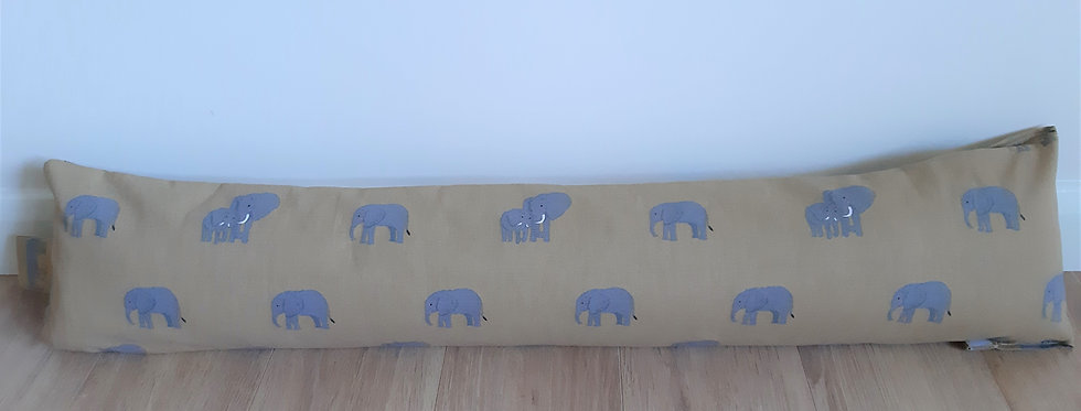 Elephant Draught Excluder, Handmade in Sophie Allport Fabric