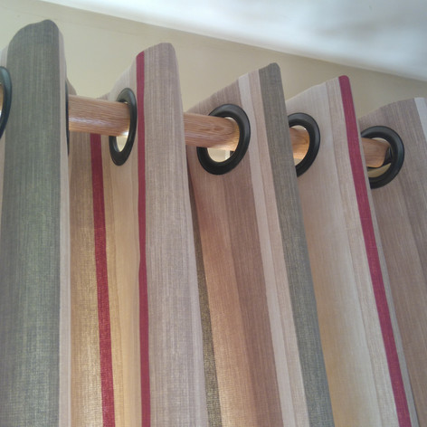 Stripped Eyelet Curtains