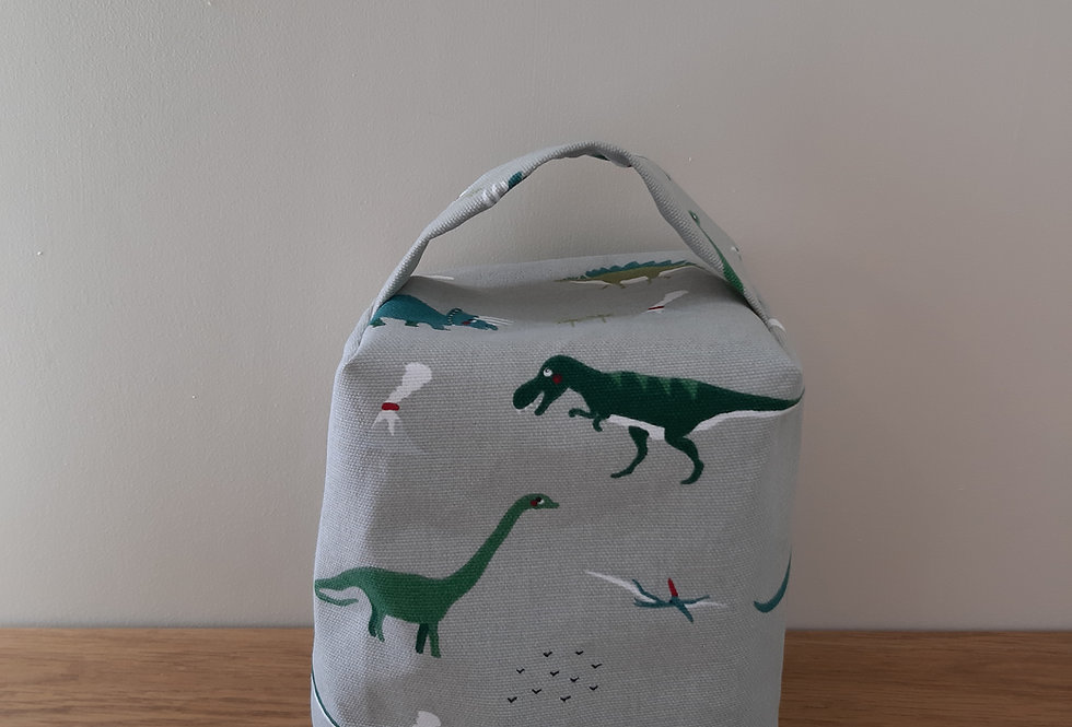 Dinosaur Doorstop, Handmade in Sophie Allport Fabric