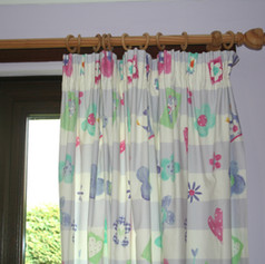 Girl's Bedroom Pencil Pleat Curtains