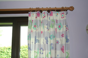 Blackout lined pencil pleat curtains for girls bedroom
