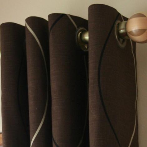 Brown Eyelet Curtains