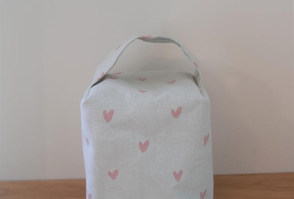 Hearts Doorstop, Handmade in Sophie Allport Fabric