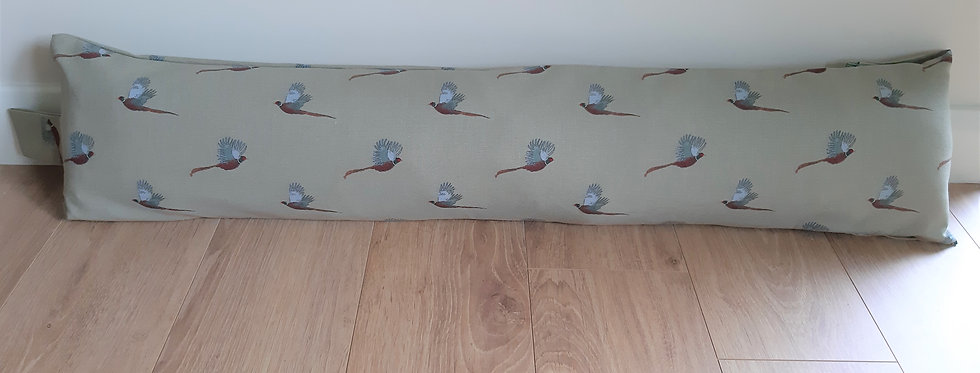 Pheasant Draught Excluder, Handmade in Sophie Allport Fabric
