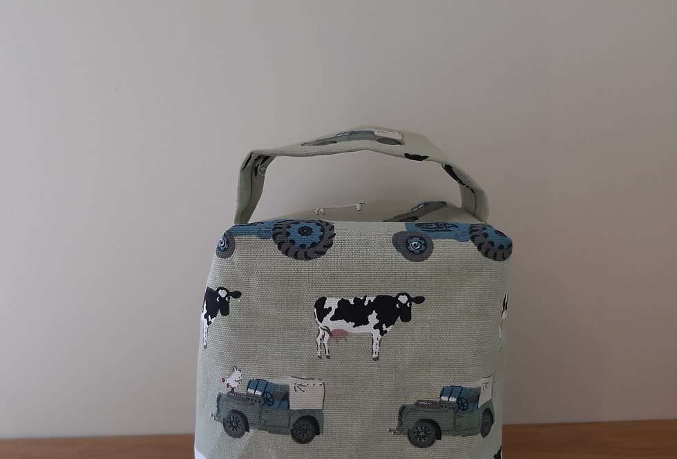 On the Farm Doorstop, Handmade in Sophie Allport Fabric