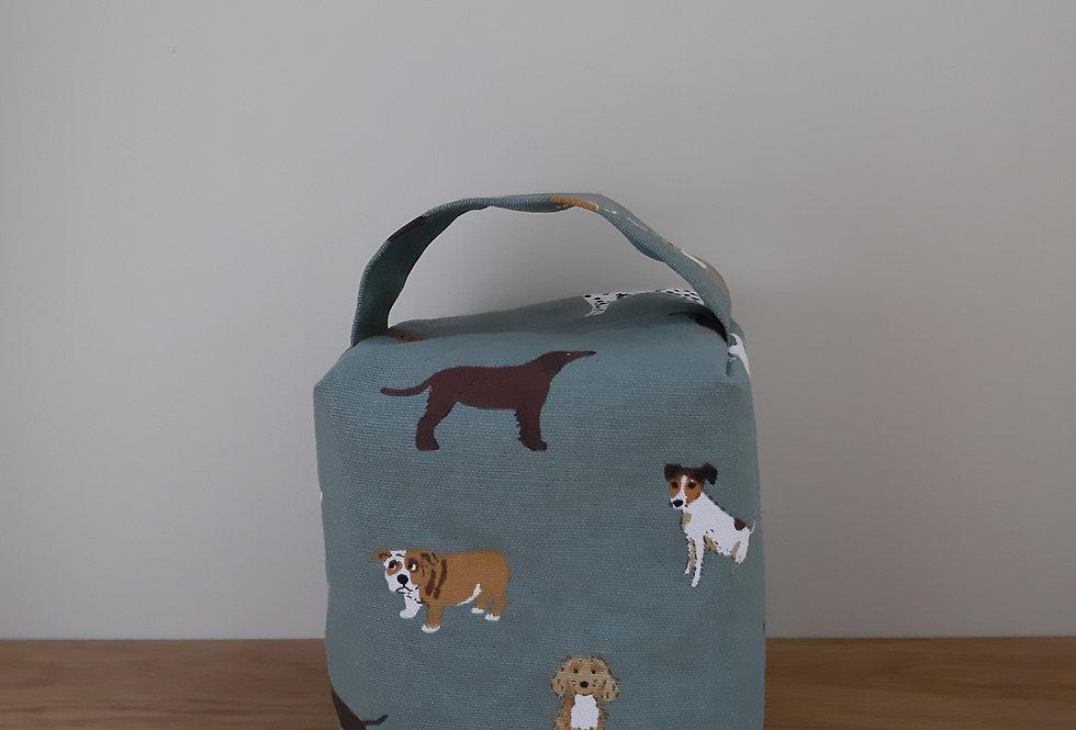 Fetch Dog Doorstop, Handmade in Sophie Allport Fabric