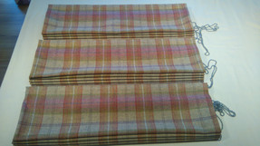Set of three roman blinds