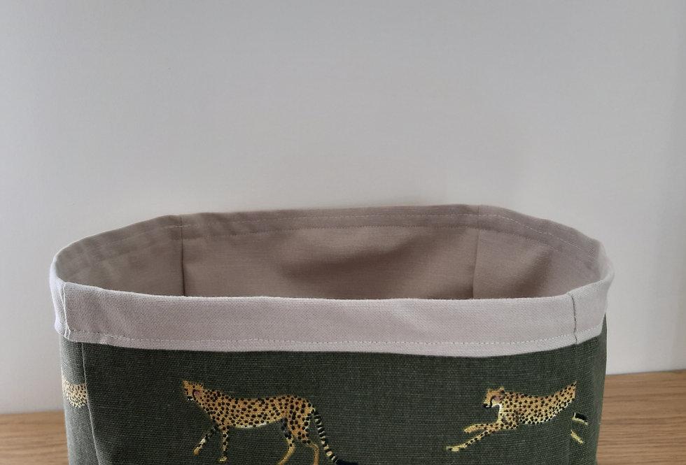 Cheetah Storage Box, Handmade in Sophie Allport Fabric