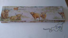 Voyage Highland Cattle interlined roman blind