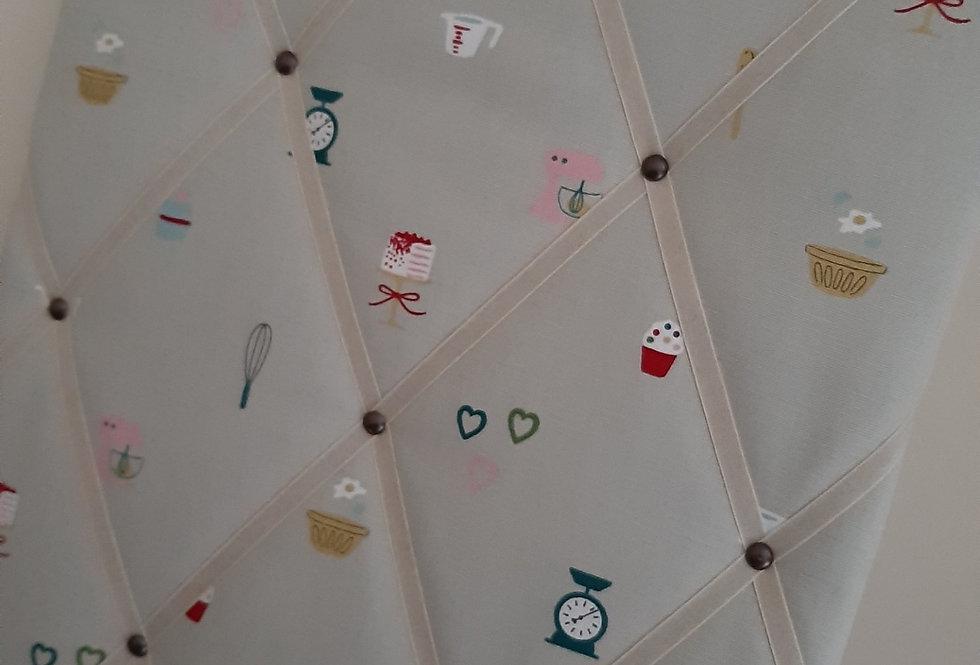 Baking Noticeboard, Handmade in Sophie Allport Fabric