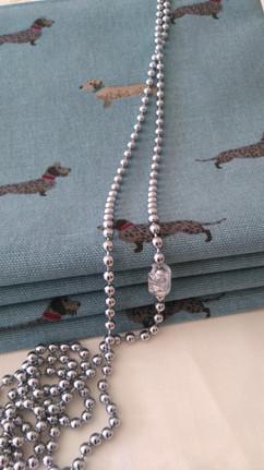 Roman blind in Sophie Allport dashchund fabric